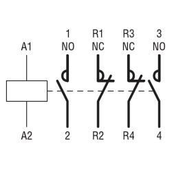 Contattore quadripolare 5,5KW 4 poli no aux 24/50-60hz Lovato