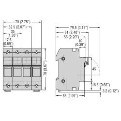 Portafusibili sez. 3P 32A 10X38 Lovato