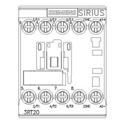 Contattore 3kW 400V / 24VDC 3 poli Siemens