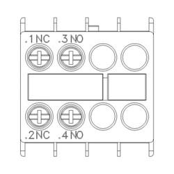 Contatto ausiliario 1NO-1NC Siemens