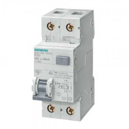 Interruttore magnetotermico classe A 1P+N 0,30 16A Siemens