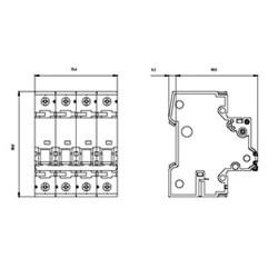Interruttore magnetotermico 4P 4MOD. 63A Siemens