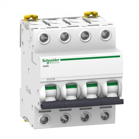 Interruttore Magnetotermico iC60N 4P C 32A 6000A Schneider