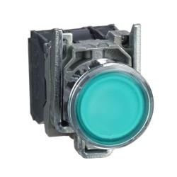 Pulsante luminoso verde Ø22...
