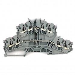 Morsetto distributore grigio 2,5mmq. Wago