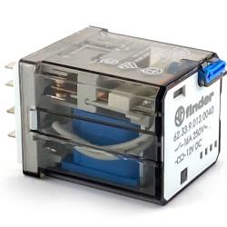 Relè di potenza 2 vie 12VCC/16A + test Finder