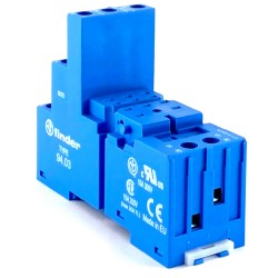 Zoccolo 3 vie colore blu Finder