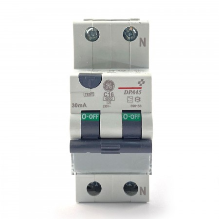 Differenziale magnetotermico 1P+N 0,03 16A Ge power