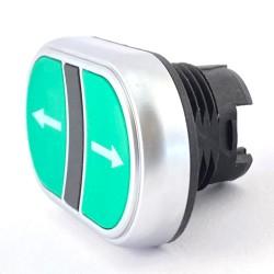 Pulsante doppio verde-freccia bianca + no spia Lovato