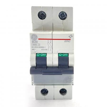 Interruttore magnetotermico 2P 2 moduli 20A Ge power