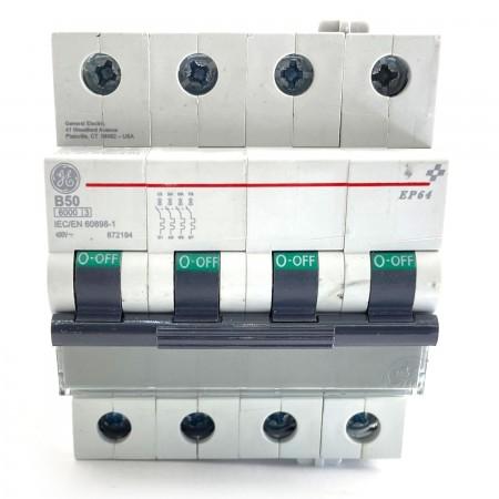 Interruttore magnetotermico 4P 4 moduli 50A curva B Ge power