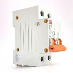 Interruttore magnetotermico 2P 2 moduli 50A curva B Ls electric