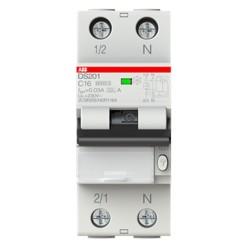 Interruttore magnetotermico differenziale DS201 C16 A30 1P+N (DS1C16A30) Abb