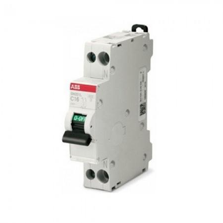 Interruttore magnetotermico S 201 Na L C16 1P+N 16A (2CDS241801R0164) Abb