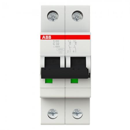 Interruttore magnetotermico S 202 C32 2P 32A 6KA (S466202) Abb