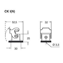 Custodia per montaggio a paratia Ilme CK03 I